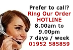 Phone us on 01952 585859